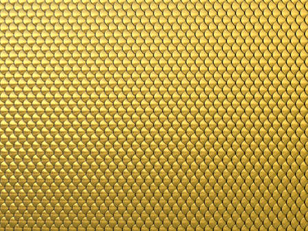 golden fish: Abstract Fantasy gold 3d background similar to dragon skin or Chainmail Armor