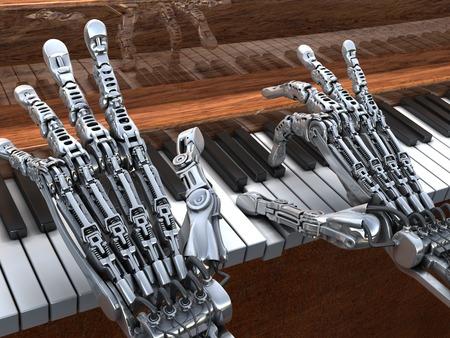 musica electronica: Robótica