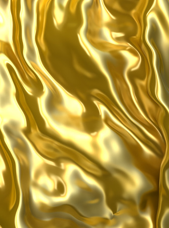golden texture: Abstract golden cloth background. Stock Photo