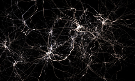 rupture: nervous system or abstract network system.  science 3d illustration