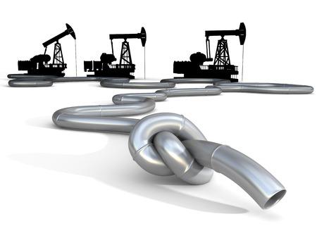 fuel crisis: Oil, gas, gasoline or fuel crisis. Conceptual business and politics illustration