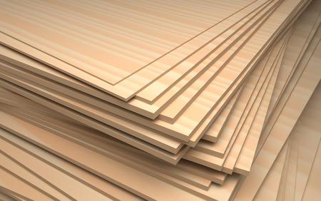 chipboard: set of plywood, industrial illustration