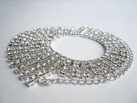 Close up of dimond necklace