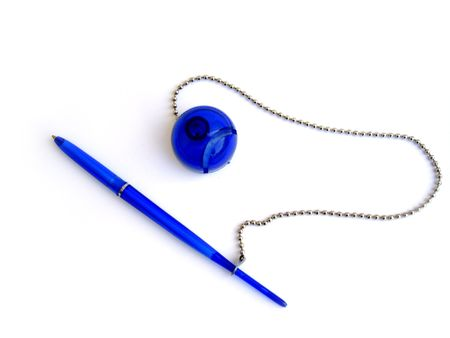 Blue writing pen photo