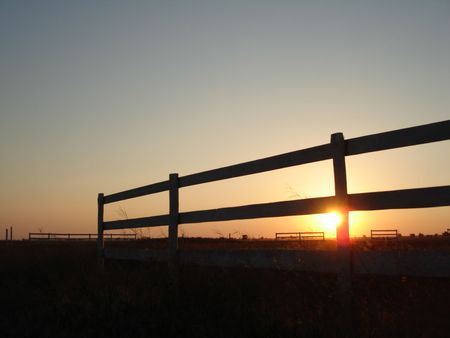 sunset on a horse stable Stock Photo - 606765