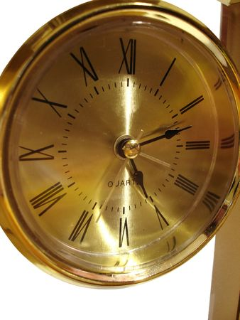 closeup of golden clock photo