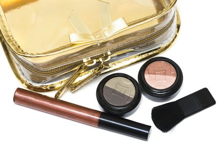 beautician and bronze set for make-up Stock Photo - 2966597