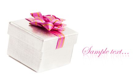 gift box isolated on white background  photo