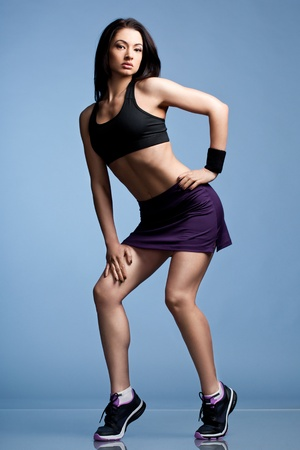 sport clothes: Athletic girl in sport clothes