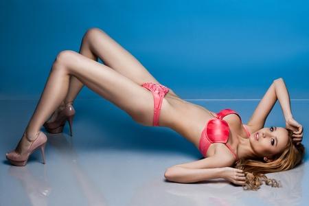 beautiful fashionable woman in lingerie photo