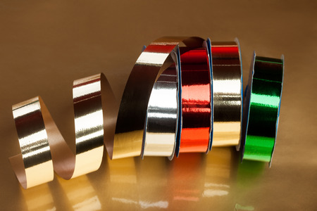 festive ribbons on a reel photo