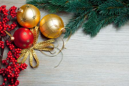 ilex aquifolium holly: Christmas toys with spruce and european holly