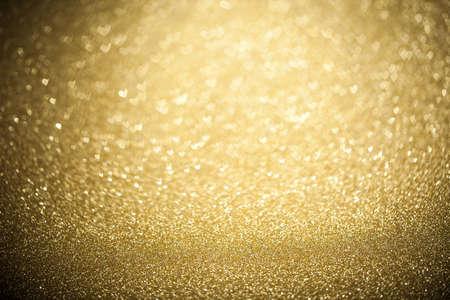 Vakantie abstracte glitter achtergrond met knipperende lampjes Stockfoto