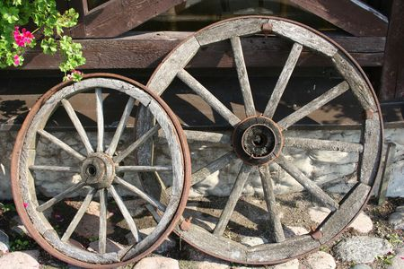 Wheels of an old carriage
