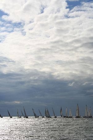 Sailboats on the Baltic Sea Stock Photo