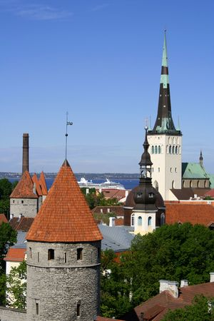 Tallinn - capital of Estonia Stock Photo
