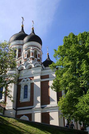 Alexander Nevski Cathedral in Tallinn, Estonia Stock Photo