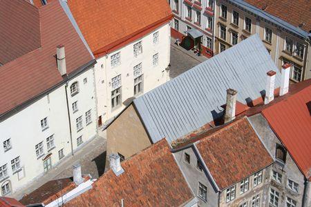 Roofs of Tallinn oldtown
