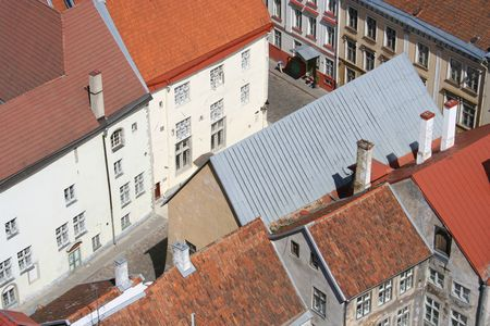Roofs of Tallinn oldtown