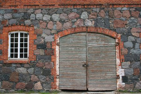 Door and window of an old barn Stock Photo - 233805