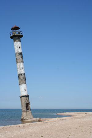 Old awry lighthouse in Estonia, Saaremaa