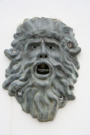 Scary face - an ancient fountain