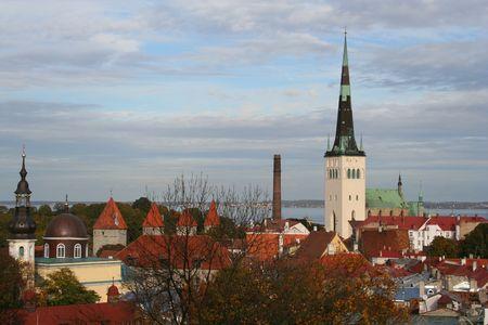 Tallinn - capital of Estonia Stock Photo