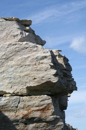 Limestone rock in Estonia
