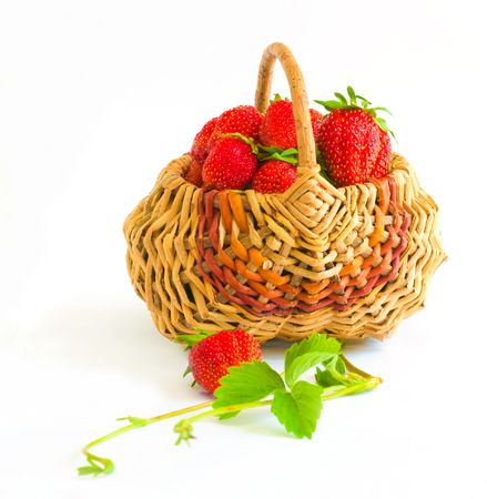 The image of Strawberry on a white background photo