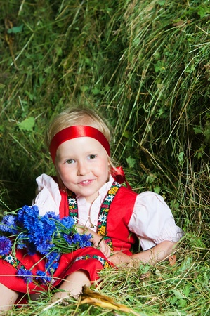 The image of the beautiful girl on a mow Stock Photo - 13006379