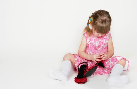 cinderella shoes: The little girl dresses mums shoes