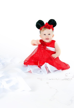 The image of the girl in a carnival costume photo