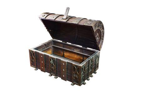 plunder: Empty treasure Chest Stock Photo