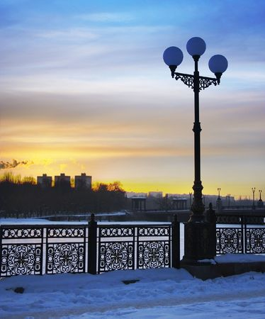 Winter sunset Stock Photo - 358119