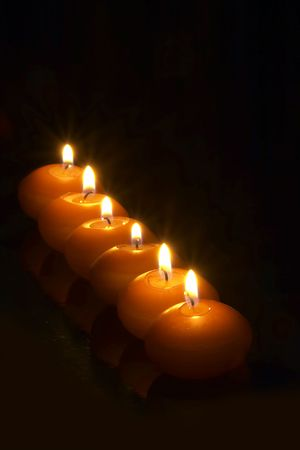 steadily: Candles Stock Photo