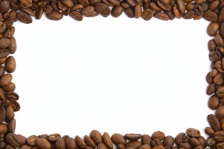 caffiene: Coffee Bean Frame Stock Photo