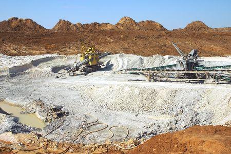 earthmover: Clay mining  Stock Photo