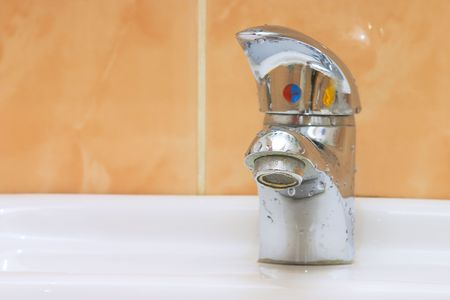 bluer: Bathroom water tap Stock Photo