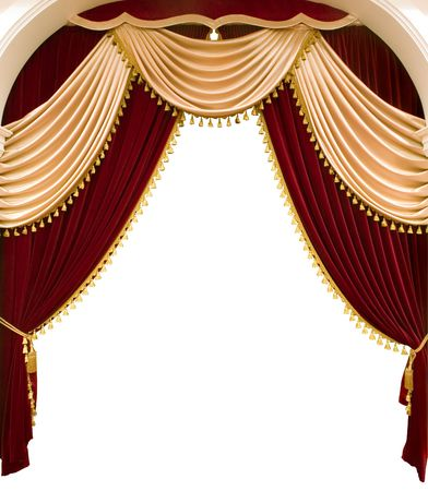 make public: Red theater curtain