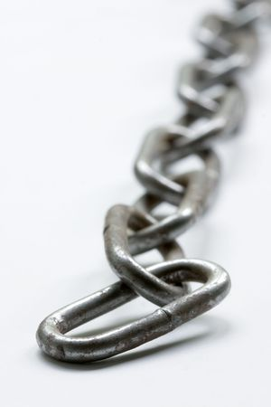 the strongest: chain on white