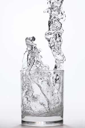 liquid falling into a glass Stock Photo - 438200