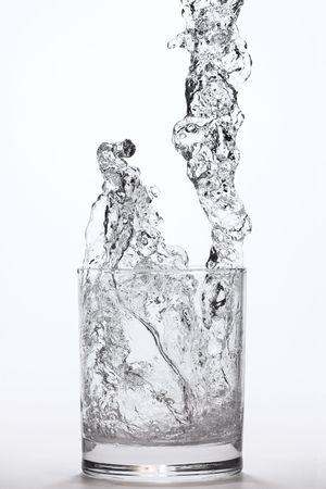 liquid falling into a glass Stock Photo - 438200