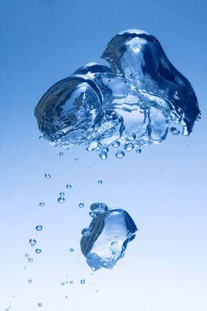 aqueous: bulb rising in water