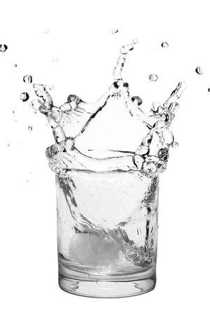 ice splashing water