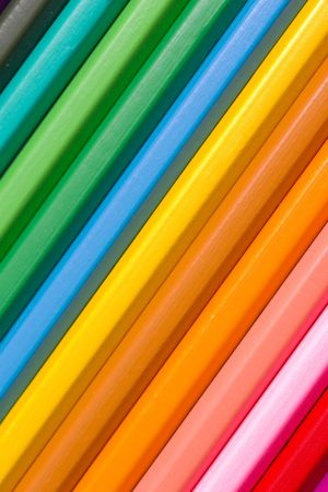 Spectrum of round colored wood pencils Stock Photo - 514969