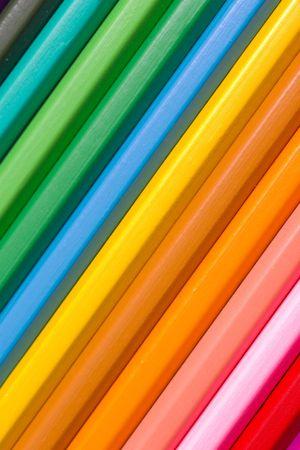 Spectrum of round colored wood pencils Stock Photo - 514969