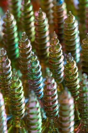 close ups of bolts and nuts photo