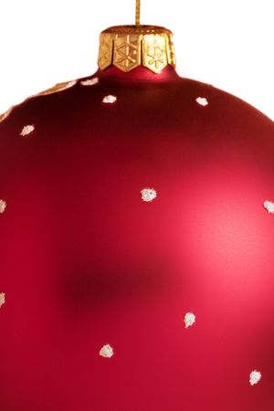 customs and celebrations: Closeup of the christmas ball
