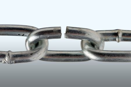chainlinks: the Breaking Chain on gray