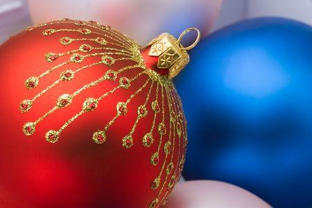Close up of the christmas decoration. Christmas ball photo